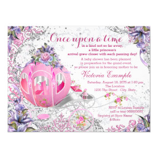 Once Upon a Time Baby Shower 17 Cm X 22 Cm Invitation Card