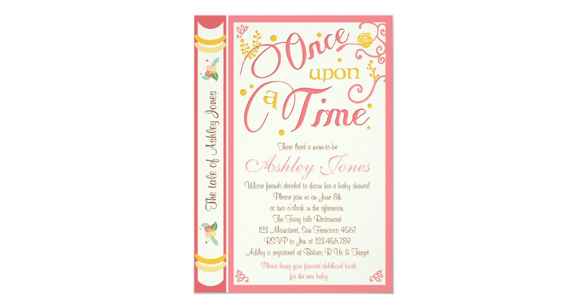 once upon a time baby shower invitation fairy tale zazzle