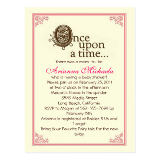 Once upon a time Baby Shower Invitation Post Cards