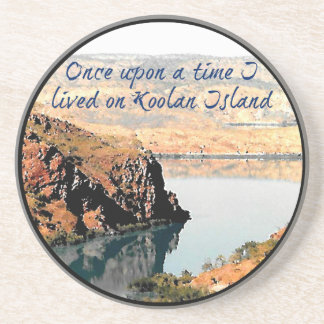 Once upon a time I lived on Koolan Island Sandstone Coaster