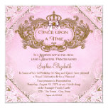Once Upon a Time Princess 1st Birthday 13 Cm X 13 Cm Square Invitation Card