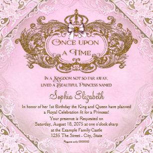 Fairy tale princess 1st birthday invitations zazzle once upon a time princess 1st birthday invitation filmwisefo