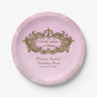 Once Upon a Time Princess Birthday Party Paper Plate