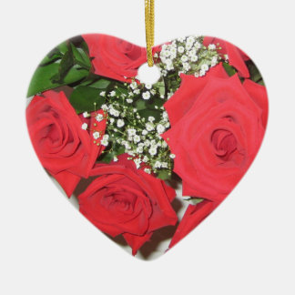 Once Upon a Time... Roses Ceramic Heart Decoration