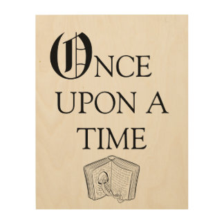 Once Upon A Time Story Nursery Decor Wood Art Wood Prints