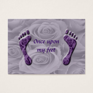 once upon my feet business card