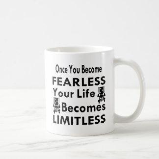 Once You Become Fearless Life Becomes Limitless Coffee Mug