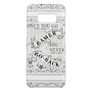 Once You Go Gamer You Never Go Back white on black Case-Mate Samsung Galaxy S8 Case
