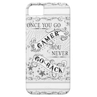 Once You Go Gamer You Never Go Back white on black iPhone 5 Case