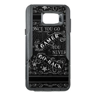 Once You Go Gamer You Never Go Back white on black OtterBox Samsung Note 5 Case