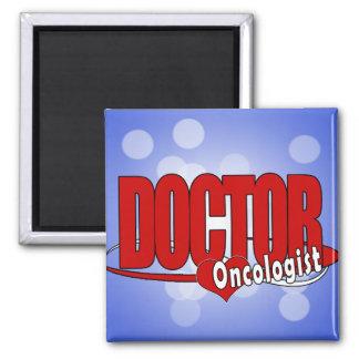ONCOLOGIST LOGO BIG RED DOCTOR FRIDGE MAGNET