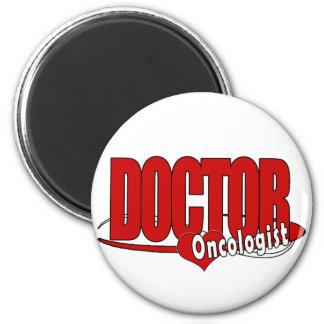 ONCOLOGIST LOGO BIG RED DOCTOR REFRIGERATOR MAGNET