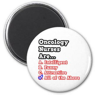Oncology Nurse Quiz...Joke 6 Cm Round Magnet