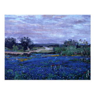 Onderdonk - Bluebonnets at Twilight 1922 Postcard