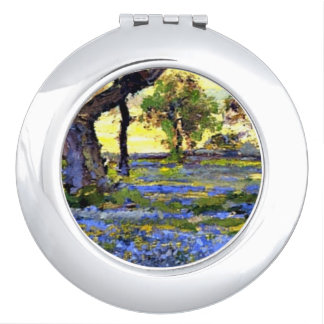 Onderdonk - Old Live Oak Tree and Bluebonnets Mirror For Makeup