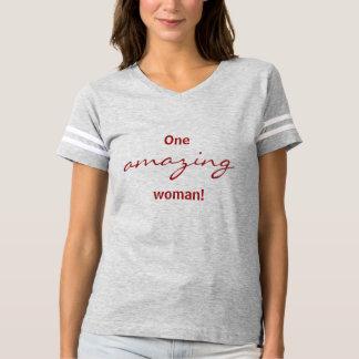 One Amazing woman football shirt