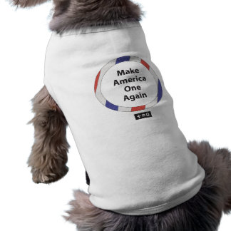 One America Red White And Blue Patriotic Sleeveless Dog Shirt