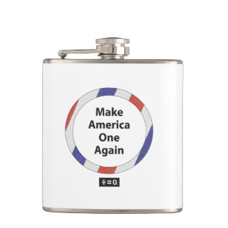 One America Vinyl Wrapped Flask
