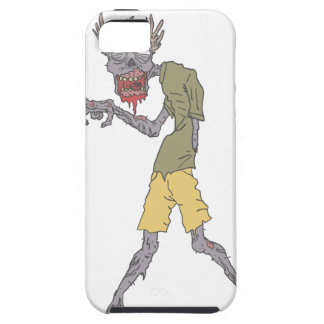 One Arm Creepy Zombie With Rotting Flesh Outlined iPhone 5 Case