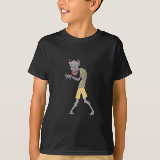 One Arm Creepy Zombie With Rotting Flesh Outlined T-Shirt
