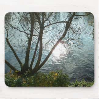 One autumn day at the lake Mousepad