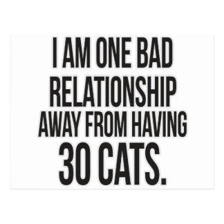 One Bad Relationship Away Postcard