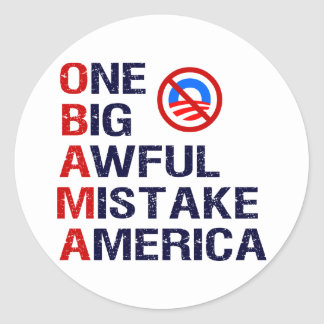 One Big Awful Mistake, America Classic Round Sticker