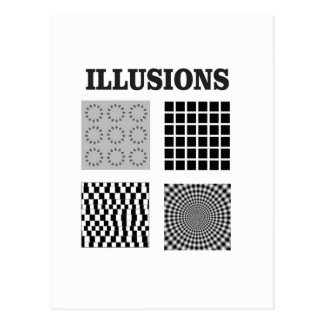 One big illusion postcard