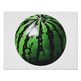 one big watermelon poster