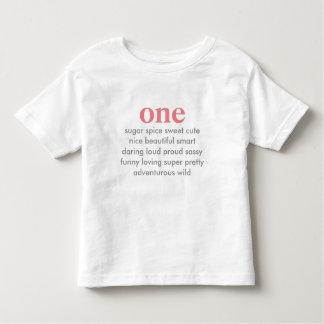 one birthday shirt