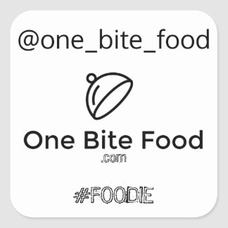 One Bite Food Square Stickers