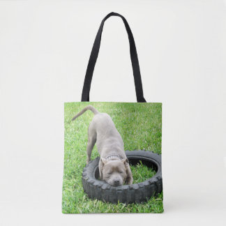 One Bite Or Two, Staffy Play Time, Tote Bag