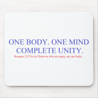 One Body. One Mind. Mouse Pad