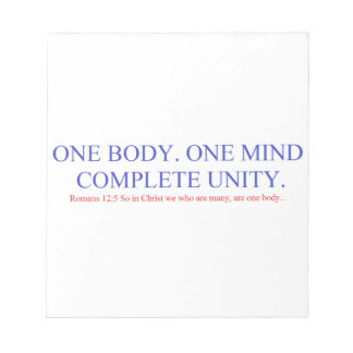 One Body. One Mind. Notepad