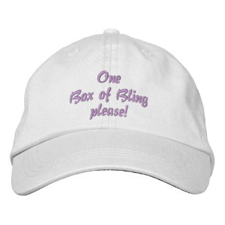 One Box of Bling please! hat Embroidered Baseball Cap