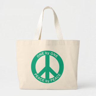 One by One Peace by Peace Jumbo Tote