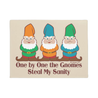 One By One The Gnomes Doormat