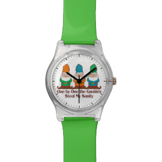 One by one the Gnomes Funny Design Watch