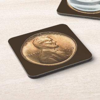 One Cent Coin Coaster Set