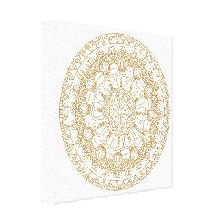 one color Mandala by Ana Tar and Sabina Elisabeth Canvas Print