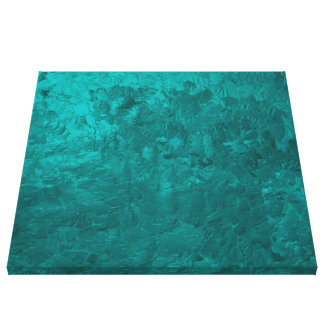 one color painting aqua stretched canvas prints