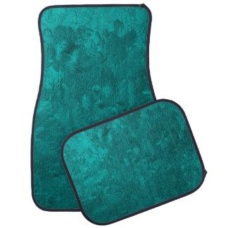 one color painting aqua car mat