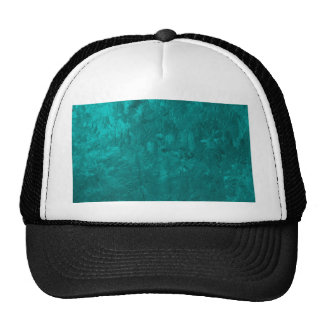one color painting aqua trucker hat