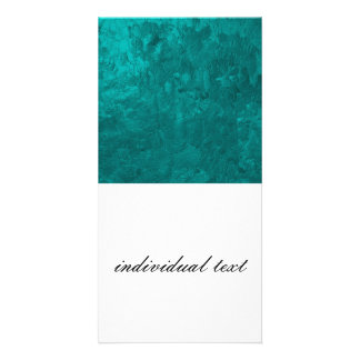 one color painting aqua photo greeting card