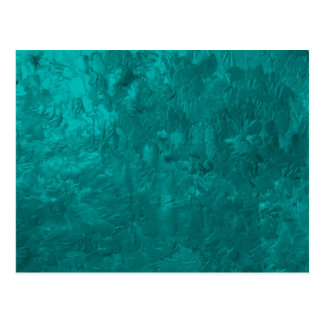 one color painting aqua postcards