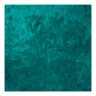 one color painting aqua poster