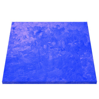 one color painting blue stretched canvas prints