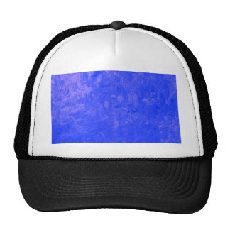one color painting blue hat