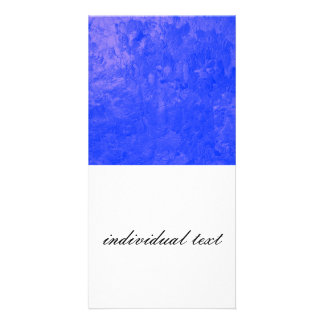 one color painting blue picture card