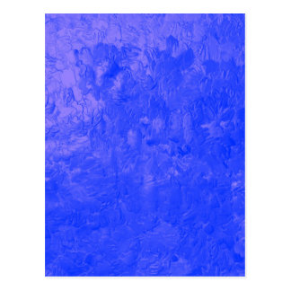 one color painting blue post card